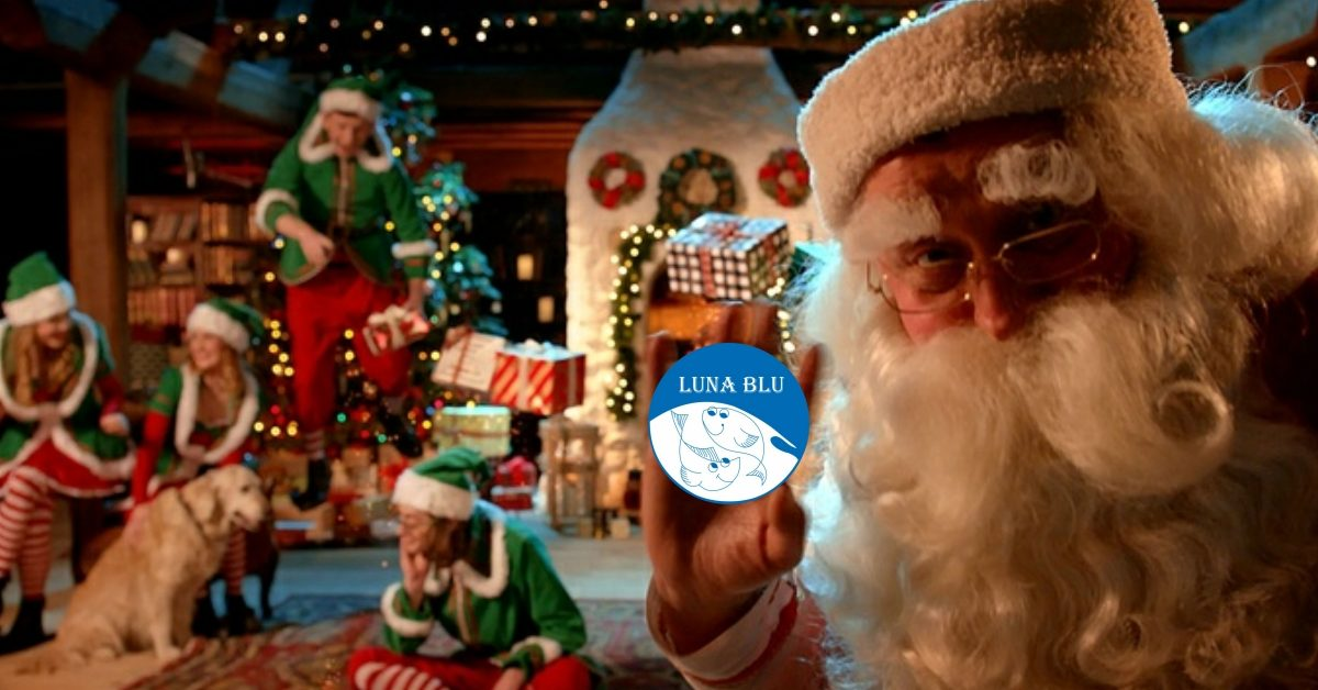 Cesti Natalizi a Parma di Babbo Natale al Ristorante Pizzeria Luna Blu