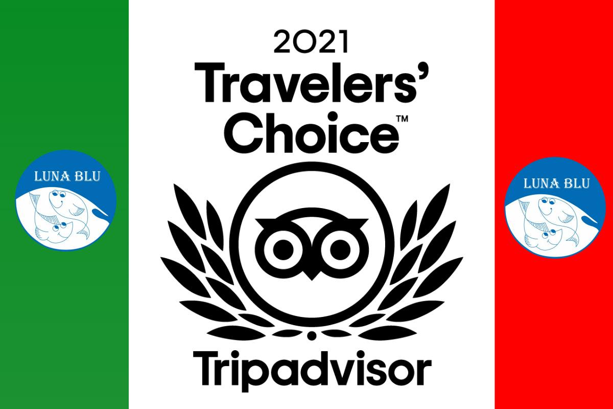 PREMIO TRAVELLERS' CHOICE TRIPADVISOR 2021 a PARMA al RISTORANTE PIZZERIA LUNA BLU   Degustazioni Parmigiane Pesce Pizza Carne Dehors WiFi